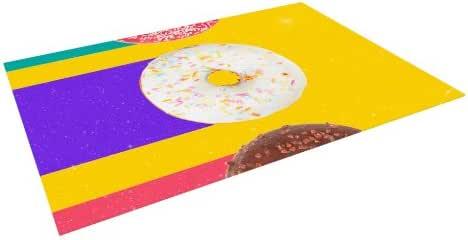 """Kess InHouse Danny Ivan """"Donuts"""" Outdoor Floor Mat/Rug, 4 by 5-Feet"""
