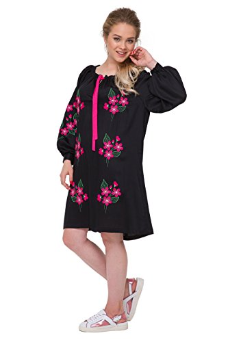 Black 2kolyory Embroidered Women Staple Dress Ukrainian Dress Embroidered For Vyshyvanka EUqfUPx