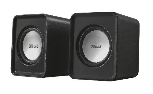 Trust Leto 2.0 USB Lautsprecher Set (6 Watt, 3,5mm Klinke, USB-Stromversorgung, für PC, Laptop, Tablet und Smartphone) schwarz