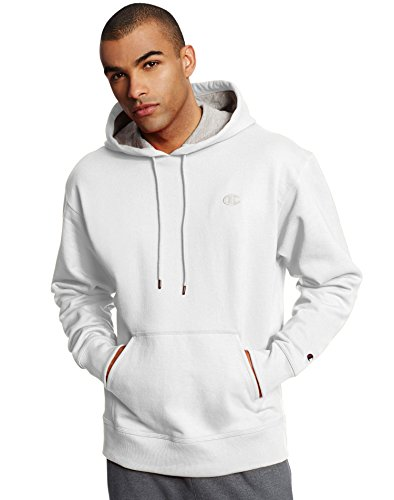 Champion Men's Powerblend Pullover Hoodie, White, X-Large