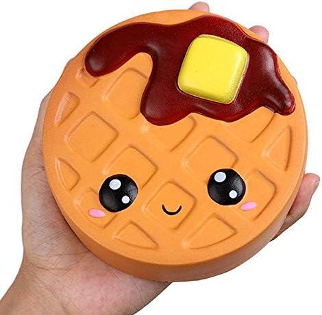スローリバウンドのおもちゃ、玩具のバウンドチーズチョコレートクッキー、かわいいライトソフトスクイーズ玩具、楽しいギフトストレスリリーフのために (Color : Round biscuit)