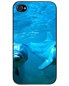 Comics Iphone4s Case's Shop 3923762ZE397576624I4S First-class Case Cover For Dolphins couple iPhone 4/4s phone Case