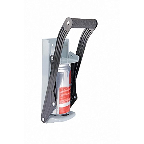 (Aunt Chris' Products - Easy Pull ~ Heavy Steel Structured ~ Aluminum Can Crusher - Wall Mount - Cushion Grip Handle - Crushes Up to 16 Oz. Aluminium Cans -)