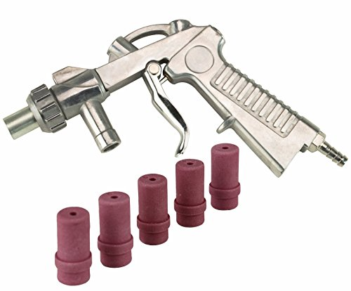 Dragway Tools Blast Media Gun & (5) 4MM Nozzles for 25 60 90 Sandblast Cabinet by Dragway Tools