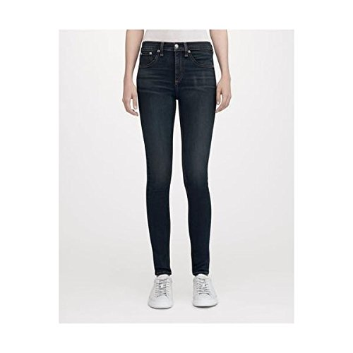 (Rag & Bone/JEAN Women's High Rise Skinny Jeans, Bedford, Blue, 24)