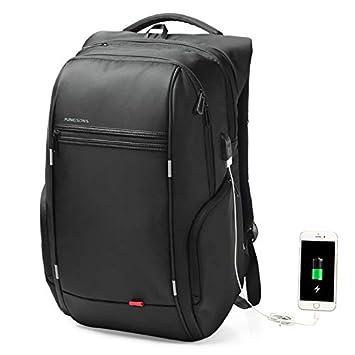 Flybiz Mochila antirrobo Impermeable, Mochila para portátil Multiusos Daypacks con Puerto de Carga USB,
