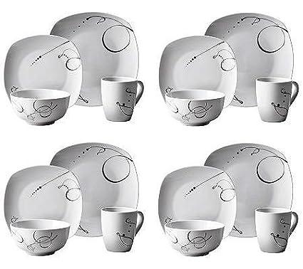 Amazon.com | Tabletops Gallery 16-Piece Pescara Dinnerware Set ...