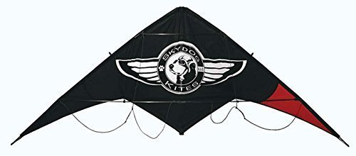 Black Dog Stunt Kite with Dyneema Spectra Line Set ()