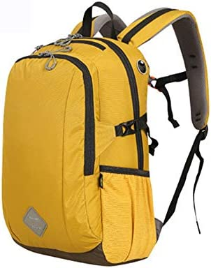 30Lアウトドアスポーツハイキングバックパック、 ナイロン布、 ロッククライミング/旅行、 男性と女性,Yellow