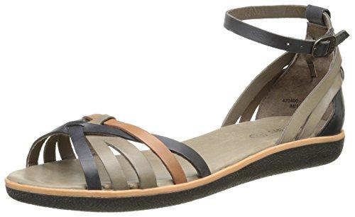 gris noir Kickers Sandales Noir camel Femme Hypocrate wCTq10