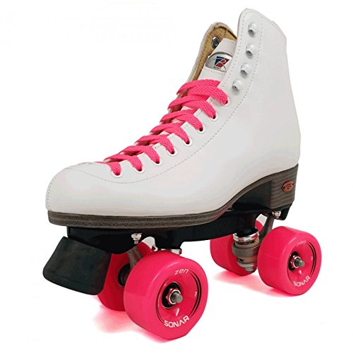 Rhythm Roller Skates - Riedell Citizen Outdoor Womens Rhythm Roller Skates w/8 Color Choices - Best Skate for Outdoor Skating - Pink Size 7