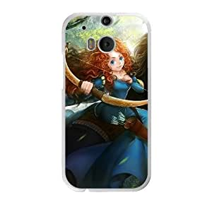 The best gift for Halloween and Christmas HTC One M8 Cell Phone Case White The beautiful Disney Princess Merida GON6239665