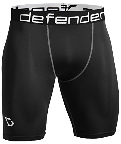 - Defender Men's Compression Shorts Underlayer Cool Dry Sports Soccer BS_M