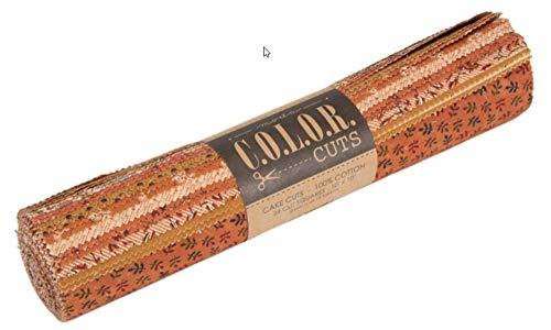 Moda Color Cake Cuts 24 Layer Cake, 24-10' Precut Fabric Quilt Squares by Moda Fabrics (Pecan Pie) ()