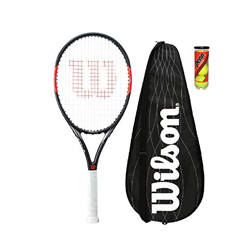 Wilson Federer Team 105 Tennis Racket including Cover and 3 Balls