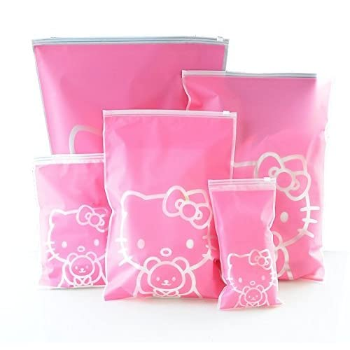 1 Set HELLO KITTY Waterproof Travel Pouch Luggage Clothes Finishing Storage bag Practical Portable Storage Bags