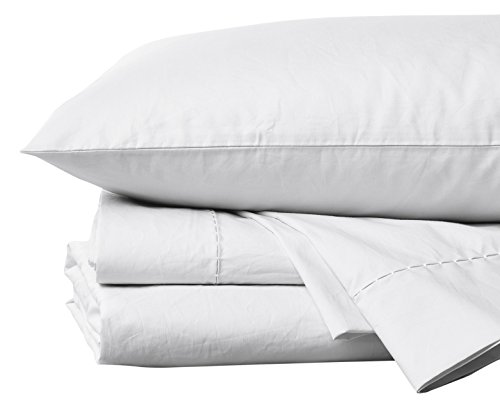 Coyuchi 500 TC Organic Percale  Sheet Set, Cal King, Alpine White (Percale Coyuchi Sheet Organic)