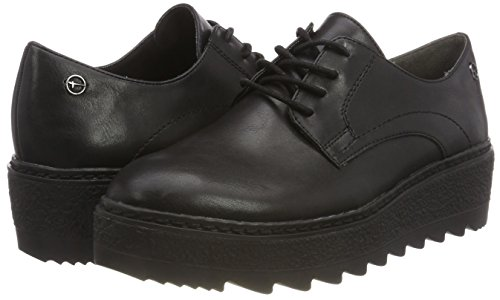 Uni 021 black Noir Richelieus 23703 Femme Matt Tamaris IOZ0x