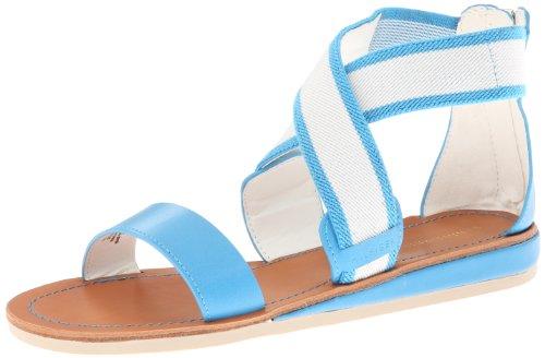 Tommy Hilfiger Women's Quinlee Gladiator Sandal,Lt Blue,10 M US