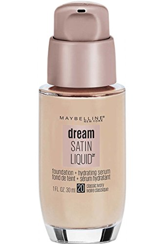 Satin Foundation Finish - Maybelline Dream Satin Liquid Foundation, Classic Ivory, 1 Ounce