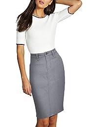 Womens Super Comfy Perfect Fit Stretch Denim Skirt