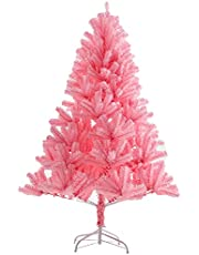 4ft, 5ft, 6ft, 7ft, 8ft, 10ft Artificial Christmas Tree Pink Home Outdoor Shopping Mall Store Luxury Encrypted Scene Layout Large Net Red Christmas Halloween Decorations