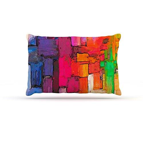 Kess InHouse Oriana Cordero Interlace  Fleece Dog Bed, 50 by 60 , Pink orange
