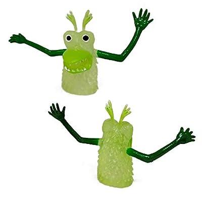 Set of 8 Glow In The Dark Monster Finger Puppet: Beauty