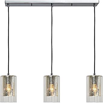 Renwil Inc LPC4147 Leopold - Three Light Pendant, Chrome Finish with Crystal/Mercury Glass