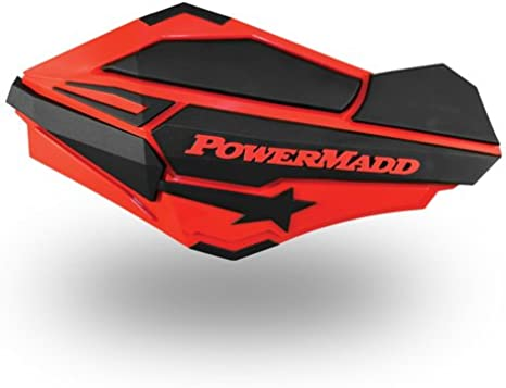 PowerMadd 34425 Charcoal//HiViz Handguards 2 Pack