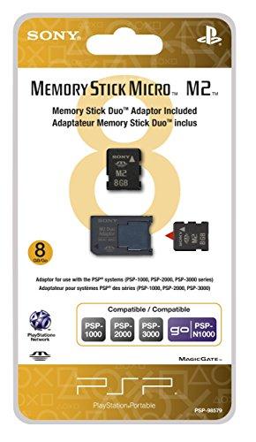 - 8GB Memory Stick Micro Media + M2 Duo Adaptor - Sony PSP (Renewed)
