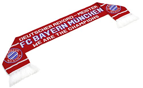 "High End Hats ""Official World Soccer Team Scarf Collection"" Double Weave Head Scarf for Men or Women, FC Bayern Munich with Logo, Red"
