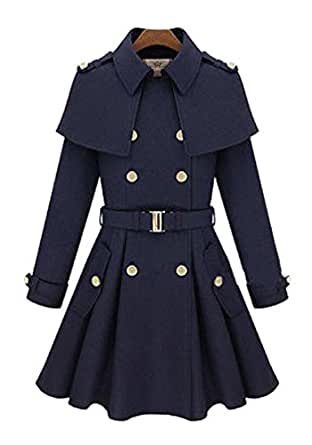 Amazon.com: Women's Vintage Wool Winter Warm Long Jacket