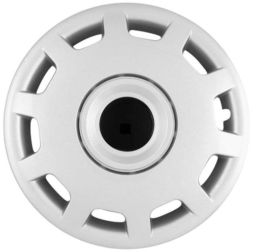 (CCI IWC413-15S 15 Inch Clip On Silver Finish Hubcaps - Pack of 4)