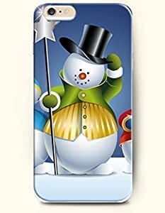 Phone Case for iPhone 6 Plus 5.5 Inches with the Design of Snowman with Stick wangjiang maoyi