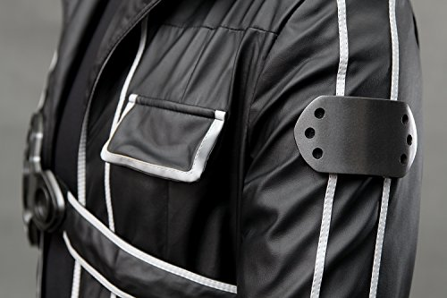 Another Me Men's Costume Sword Art Online Anime Kirito PU Jacket Coat SAO Outfit Cosplay Suit Male Medium by Another Me (Image #4)