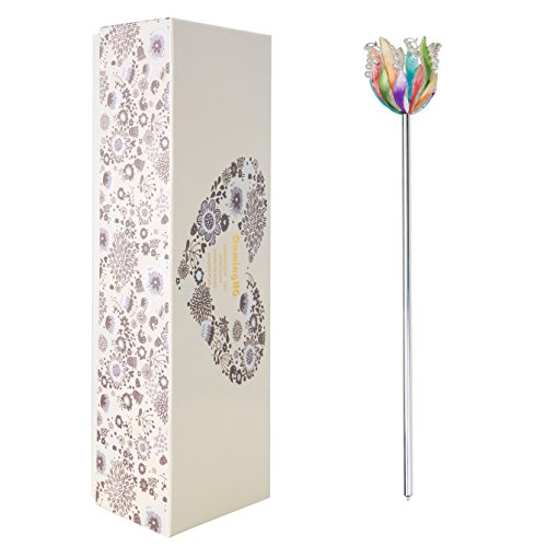 CamingHG Royal Queen Rhinestone Scepter Wand Pageant Bridal Magic Fairy Props Costume (Multi-Colored) ()