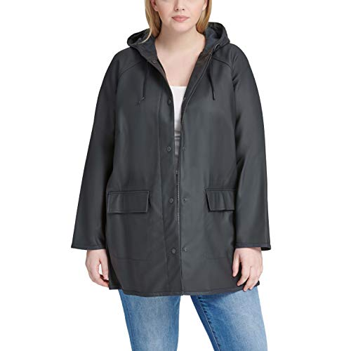 Levi's Women's Hooded Contrast Trim Rain Jacket (Standard & Plus Sizes)