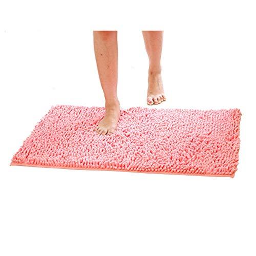 Fluffy Rug Living Room Bedroom Bathroom Door mat Kitchen Non-Slip Microfiber Absorbent Floor mat (Color : Pink, Size : 70140cm)