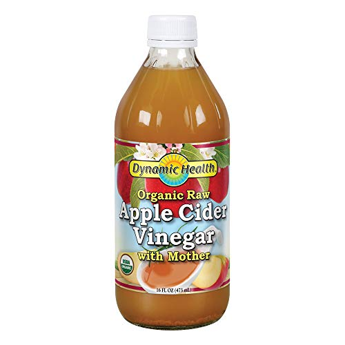 Dynamic Health Organic Apple Cider Vinegar with Mother Glass, 16-Ounce Glass Bottle (Pack of 2) (Olive Oil And Apple Cider Vinegar Salad Dressing)