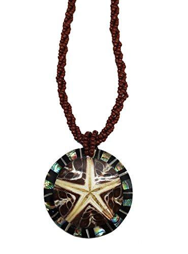 - Henna Multi Strand Polished Starfish Stone Pendant Bead Fashion Necklace