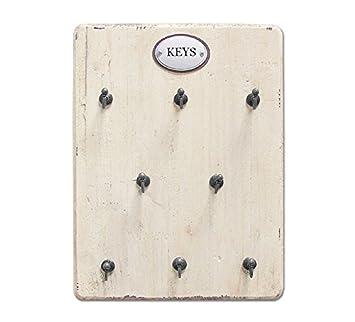 Schlüsselschrank Keys Metall Schwarz Schlüsselbrett Schlüsselkasten Shabby Retro