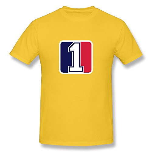 Men Number One League T-shirts,Yellow T-shirts By HGiorgis L Yellow