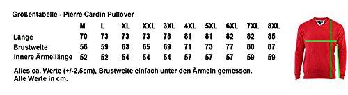 Modehit !!! Leichter Strickpullover von PIERRE CARDIN mit V-Ausschnitt Anthrazit 6XL bis 8XL (Maßtabelle beachten)
