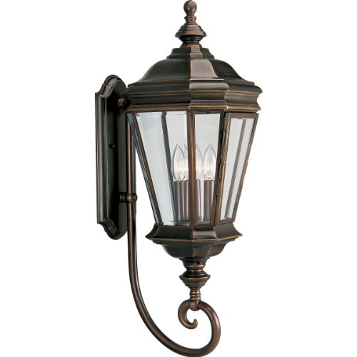 Cheap Progress Lighting P5672-108 3-Light Crawford Wall Lantern, Oil Rubbed Bronze