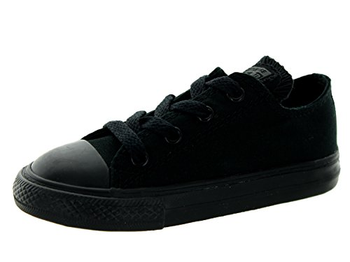 Converse Toddlers Chuck Taylor OX Classic Black Monoch Basketball Shoe 3 Infants US