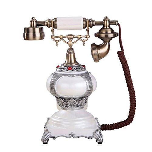 CHX Telephone American Style Classical Villa Antique Telephone Home Decoration Retro TV Cabinet Decorative Telephone (Size : (Gloss Black Lcd Tv)