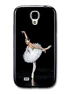 AMAF ? Accessories Ballet Dancer on Spotlight with White Ballet Skirt Swan case for Samsung Galaxy S4