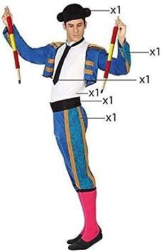 Atosa-26810 Atosa-26810-Disfraz Torero-Adulto M a L- Hombre- azul, Color (26810): Amazon.es: Juguetes y juegos