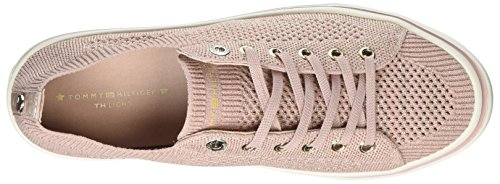 Knitted dusty 502 Sneakers Tommy Femme Basses Light Up Hilfiger Weight Rose Lace 5vqRHv